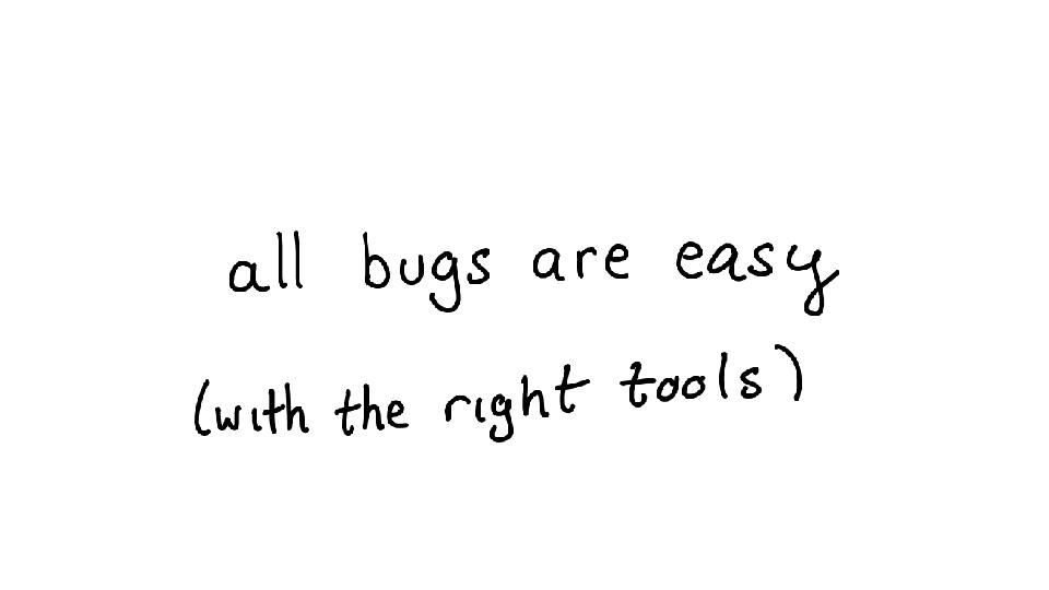 A swiss army knife of debugging tools: talk & transcript