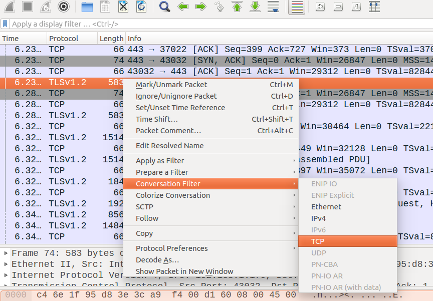 wireshark https filter